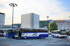 автобусная станция на Хиросиме 2016 Стоковое Изображение RF