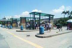Автобусная станция станции осмотра границы Nantou Стоковое Фото