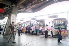 Автобусная станция Dongguan, в фарфоре Стоковое Изображение