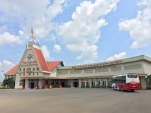 Автобусная станция Thuot мам Buon, провинция Dak Lak, Вьетнам стоковые изображения