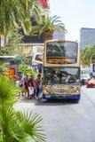 Автобусное обслуживание Deuce на прокладке Лас-Вегас - ЛАС-ВЕГАС - НЕВАДЫ - 23-ье апреля 2017 Стоковое Изображение RF