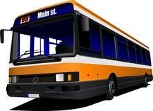 Автобус города на дороге бесплатная иллюстрация