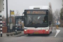 Автобус 33 общественного транспорта на вертепе Hoorn управляемом Connexxion в Нидерланд стоковая фотография rf