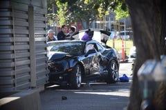 Автокатастрофа в Окленд Калифорнии Стоковое фото RF