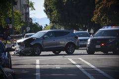 Автокатастрофа в Окленд Калифорнии Стоковые Изображения