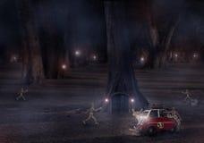 Автокатастрофа в саде Стоковая Фотография RF