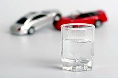 Автокатастрофа и спирт Стоковые Изображения