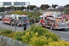 Автокатастрофа на скоростном шоссе Калифорнии Стоковое Фото