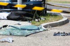 Автокатастрофа на улице Стоковая Фотография RF
