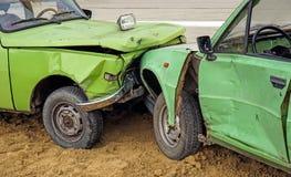 Автокатастрофа дорожного происшествия Стоковые Фото