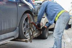 Автокатастрофа от автомобильной катастрофы на дороге Стоковая Фотография