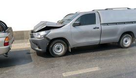 Автокатастрофа от автомобильной катастрофы на дороге Стоковые Изображения