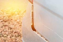 Автокатастрофа получает поврежденной случайно на дороге Стоковая Фотография RF