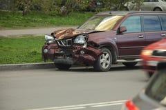 Автокатастрофа после head-on Стоковая Фотография RF