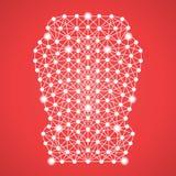 Автокресло для детей изолированных на красной предпосылке также вектор иллюстрации притяжки corel бесплатная иллюстрация