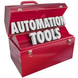 Автоматизация оборудует эффективность Productivi технологии Toolbox современную иллюстрация штока