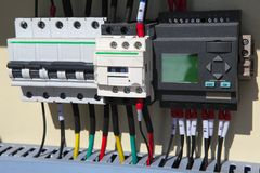 автоматизация электрическая стоковое изображение rf