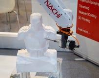 Автоматизированная рука робота печатания 3D стоковое изображение