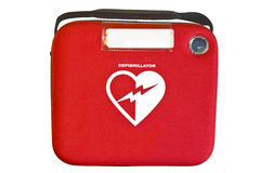 Автоматизированные внешние дефибриллятор или AED Стоковое Изображение