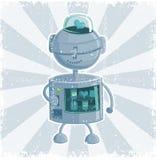 автоматизируйте ретро вектор робота Стоковые Фото