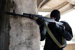 автоматическая пушка преступника заволакивания Стоковая Фотография RF