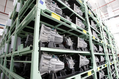 Автоматическая фабрика двигателей Стоковое Изображение RF