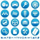 автоматические иконы Стоковые Изображения RF