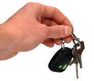 автоматические ключи руки Стоковая Фотография RF