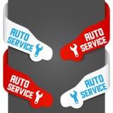 автоматические левые знаки стороны обслуживания Стоковые Изображения RF