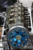 Автоматические машина или машинные части предпосылка, конец вверх по машинным частям, ремонт и обслуживание режим двигателя Стоковое Изображение RF