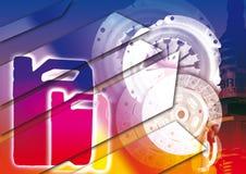 автоматические части предпосылки Стоковая Фотография RF