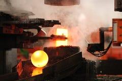 Автоматический горячий штемпелюя процесс Стоковые Изображения RF