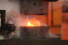 Автоматический горячий штемпелюя процесс Стоковое Изображение RF