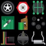 автоматический комплект иконы Стоковые Изображения RF