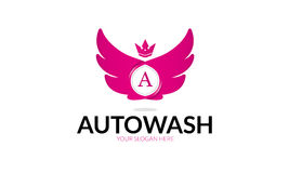 Автоматический логотип мытья Стоковое фото RF