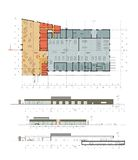 автоматический план фасада центра иллюстрация вектора