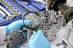 Автоматический ремонтник обслуживания для автоматического Стоковая Фотография RF