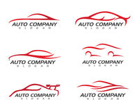 Автоматический шаблон логотипа автомобиля иллюстрация штока