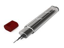 автоматическим изолированная графитом белизна карандаша Стоковые Фотографии RF