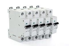 5 автоматических автоматов защити цепи Стоковая Фотография RF