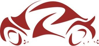 автоматическое красное стилизованное Стоковая Фотография