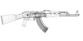 Автоматическое оружие Стоковое Изображение RF