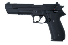 автоматическое черное личное огнестрельное оружие semi Стоковые Фотографии RF