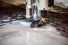 Автомат для резки струи воды CNC Стоковое Фото
