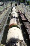 Автомобили бака железной дороги Стоковые Фотографии RF