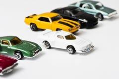 Автомобили игрушки, белые Стоковое Фото