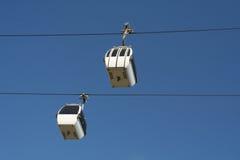 автомобили кабеля для воздушных линий Стоковые Изображения