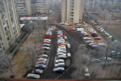 автомобили красные Стоковые Изображения
