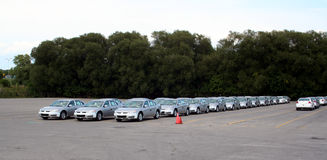 автомобили новые Стоковая Фотография