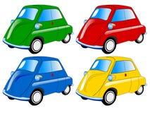 автомобили покрасили миниым Стоковая Фотография RF